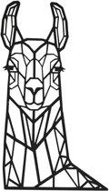 FBRK. Pauw 135 cm Taupe - Geometrische dieren -Wanddecoratie