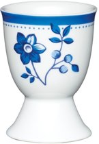 Set van 4 - Eierdopje - Bloemen - Blauw - KitchenCraft