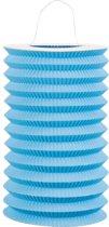 24 stuks: Papieren treklampion - blauw - 15cm