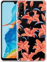 Huawei P30 Lite Hoesje Flowers