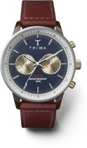 Triwa Blue Face Nevil - Horloge - Heren - Bruin - Ø 42 mm