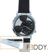 Horloge Mickey Mouse zwart + extra batterij + doosje