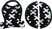 UKJE.NL Gordelbeschermers voor Maxi-Cosi Cabriofix en Citi - Zwart met witte kruisjes ♥