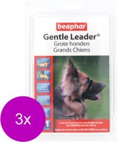 Beaphar Gentle Leader Zwart - Hondenopvoeding - 3 x Large Groot