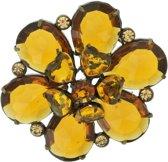 Bruine bloemen broche