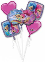 Bouquet Shimmer & Shine Foil Balloon P75 packed