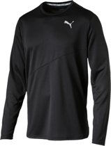 PUMA Ignite L/S Tee Mono Sportshirt Heren - Puma Black