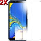 MMOBIEL 2 Stuks Samsung Galaxy A7 Glazen Screenprotector Tempered Gehard Glas 2.5D 9H (0.26mm) - inclusief Cleaning Set