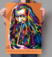 Poster WPAP Pop Art Gandalf - The Lord of the Rings