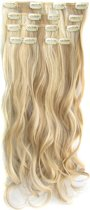 Clip in hair extensions 7 set wavy blond - P16/613