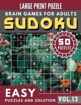 Easy SUDOKU: SUDOKU Easy Quiz Books for Senior, mom, dad and your kids Large Print (Sudoku Brain Games Puzzles Book Large Print Vol