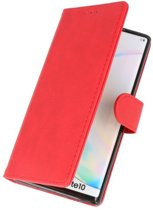 Wicked Narwal | bookstyle / book case/ wallet case Wallet Cases Hoes voor Samsung Samsung Galaxy Note 10 Rood