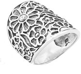 Boho ring Flowers - maat 17.00 mm / maat 53