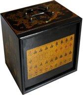 Mah-Jong in houten kist zwart S