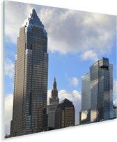 Gebouwen in de binnenstad van het Noord-Amerikaanse Cleveland Plexiglas 90x90 cm - Foto print op Glas (Plexiglas wanddecoratie)