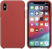 Luxe siliconen hoesje - rood - voor Apple iPhone XR - suède binnenkant