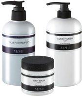 MOHI Silver Shampoo, Conditioner Repair 300ml & Hair mask 200ml
