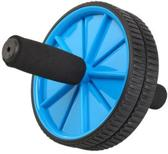 Sportandmore -  Double Ab Roller - Core Trainer - Core Wheel - Buikspiertrainer met dubbel wiel - Buikspier Wiel - Ø 18.5 cm - Blauw