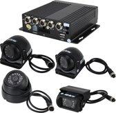 Truck 360 graden Real-time monitoring 4 CH Realtime 720P 1280 * 720 Pixels SD Mobiele DVR Ondersteuning AHD Input en Analoge Standaard Definitie Camera Input