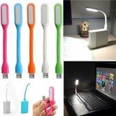 USB LED Lamp Buigzaam WIT