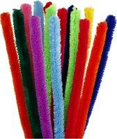 Chenille, dikte 15 mm, l: 30 cm, diverse kleuren, 15div