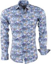 Ferlucci - Heren Overhemd met Trendy Design - Calabria - Donker Grijs