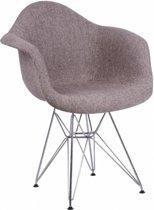 stoel bekleed - H01 Cashmere style zwart