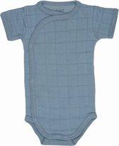 Lodger Rompertje Baby - Romper Solid - Blauw - Korte mouw - 62
