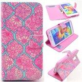 Mandragora Flower wallet case hoesje Samsung Galaxy S5 mini
