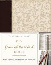 KJV, Journal the Word Bible, Leathersoft, Brown/Cream, Red Letter Edition