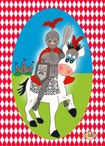 Uitnodiging Kinderfeestje Ridder 10 stuks (A6) – Puk Art