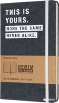 Moleskine notitieboek donker denim - Limited Edition - Large - Gelinieerd