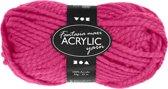 Fantasia acrylgaren, l: 35 m,  maxi , neon roze, maxi, 50gr
