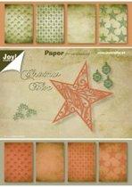 Papierblok 15 x 20 cm, 32 sheets, 8 x 4 designs, christmas bloc