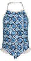 Snapper Rock UV werend Badpak Kinderen Moroccan - Blauw - Maat 116-122