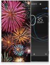 Sony Xperia XA1 Ultra TPU Hoesje Design Vuurwerk