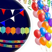 Feestpakket - Klein - Slingers - Ballonnen - Vlaggenlijn