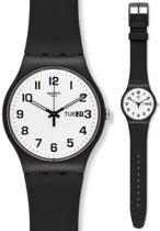 Swatch Originals New Gent Twice Again horloge  - Zwart
