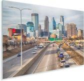 Horizon van de binnenstad van Minneapolis in Noord-Amerika Plexiglas 30x20 cm - klein - Foto print op Glas (Plexiglas wanddecoratie)