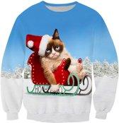 Grumpycat foute Kersttrui Maat: L