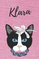 Klara Katzen-Malbuch / Notizbuch / Tagebuch: Individuelles personalisiertes blanko M�dchen & Frauen Namen Notizbuch, blanko DIN A5 Seiten. Ideal als U