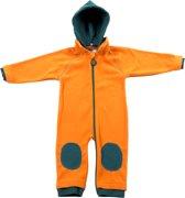 Ducksday fleecesuit unisex - oranje/petrol - 104/110
