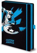 Marvel Retro Captain America Mono Premium A5 Notitieboek