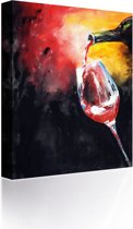 Sound Art - Canvas + Bluetooth Speaker Pouring A Glass Of Wine (41 x 51cm)
