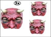 3x Half masker Duivel