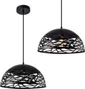 [lux.pro]® Stijlvolle hanglamp Aloja - zwart