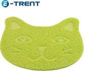 E-Trent – Groen Kattenbak mat voor Grit - Gritmatje – 30 x 40 CM - Waterdichte Kattenmat - Kattenmat voor thuis - Grit Opvanger - Katten Mat met Filter voor Grit - Katten matje - Kat accessoires - Katten accessoires - Kat benodigdheden - Mat voor bij