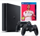 PlayStation 4 Slim (500GB) + FIFA 20 met 2 controllers - PS4 bundel