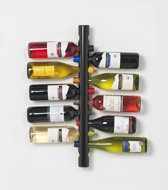 Wijnrek-wandwijkrek-12-flessen-zwart