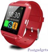 Smartwatch u8 - Horloge voor smartphone bluetooth rood